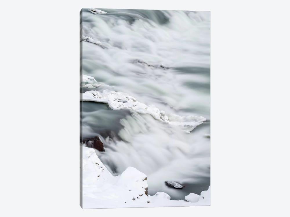Urridafoss During Winter, River Thorsa, Selfoss, Iceland. by Martin Zwick 1-piece Canvas Wall Art