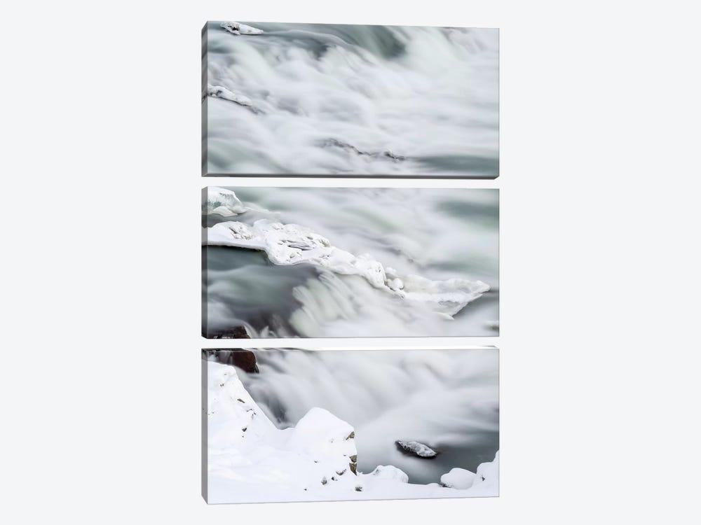 Urridafoss During Winter, River Thorsa, Selfoss, Iceland. by Martin Zwick 3-piece Canvas Art