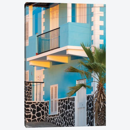 Traditional townhouse (Sobrado). Sao Filipe, the capital of the island. Fogo Island, part of Cape Verde in the central Atlantic. Canvas Print #MZW286} by Martin Zwick Canvas Art Print