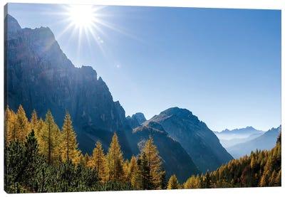 Valle Corpassa in the Civetta Mountain range, dolomites, Veneto, Italy I Canvas Art Print