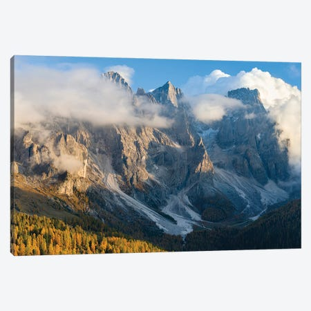 Peaks towering over Val Venegia. Pala group (Pale di San Martino) in the dolomites of Trentino, Italy. Canvas Print #MZW290} by Martin Zwick Canvas Art Print