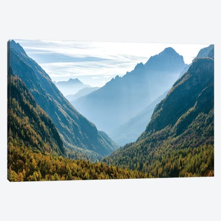 Valle Corpassa in the Civetta Mountain range, dolomites, Veneto, Italy II Canvas Print #MZW29} by Martin Zwick Canvas Wall Art