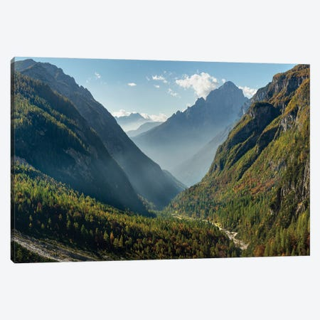 Valle Corpassa in Civetta - Moiazza mountain range in the Dolomites of the Veneto, in the background the Pale die San Martino Canvas Print #MZW300} by Martin Zwick Canvas Art Print