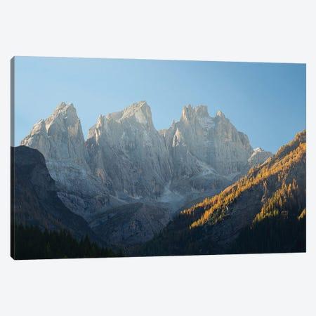 Focobon mountain range in the Pale di San Martino in the Dolomites of Trentino Canvas Print #MZW305} by Martin Zwick Canvas Artwork