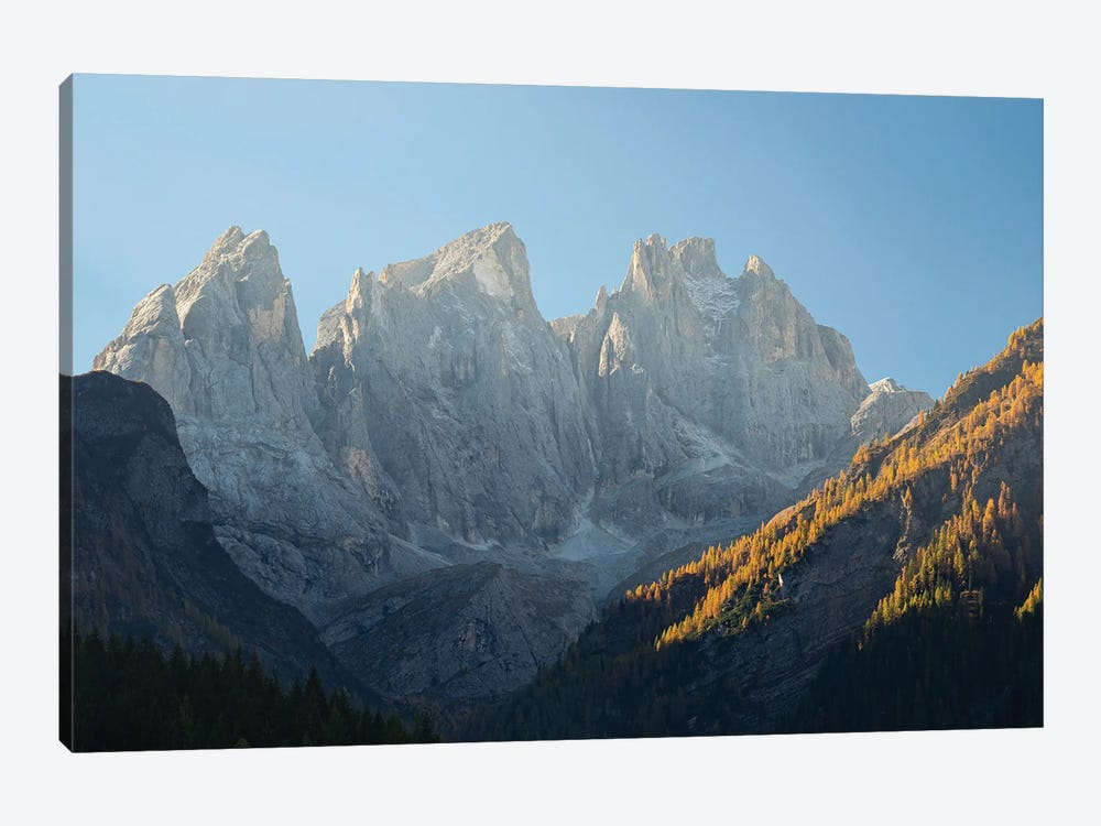 Focobon mountain range in the Pale di San Martino in the Dolomites of Trentino by Martin Zwick 1-piece Canvas Print