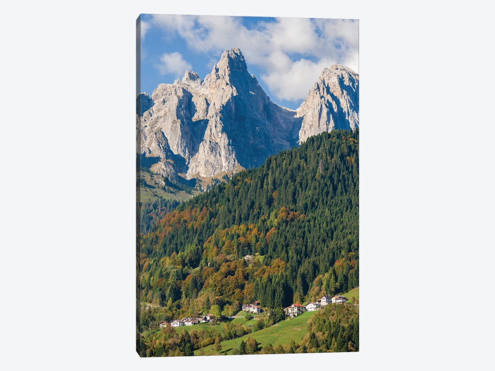 Villages Sarasin and Pongan in the Veneto under the peaks of the mountain range Pale di San Martino by Martin Zwick 1-piece Art Print