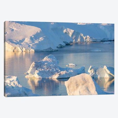 Iceberg in the Uummannaq Fjord System, Greenland, Danish overseas colony. Canvas Print #MZW309} by Martin Zwick Art Print