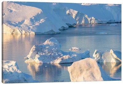Iceberg in the Uummannaq Fjord System, Greenland, Danish overseas colony. Canvas Art Print