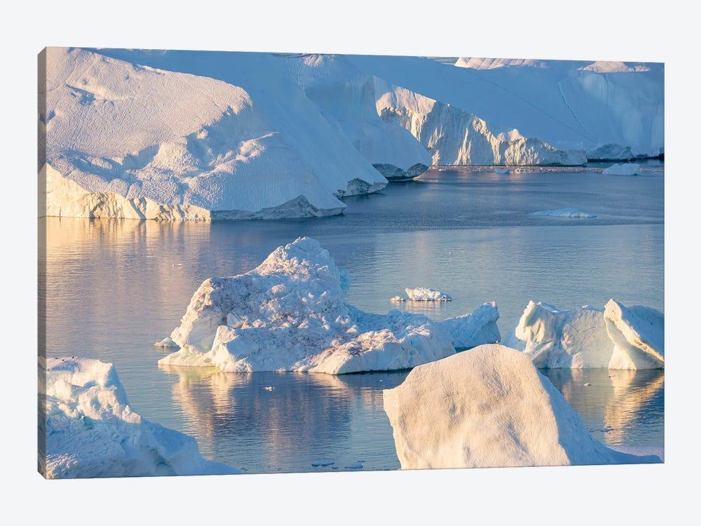 Iceberg in the Uummannaq Fjord System, Greenland, Danish overseas colony. by Martin Zwick 1-piece Canvas Print