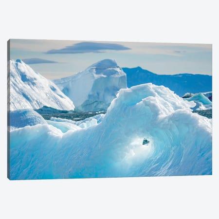 Iceberg in the Uummannaq Fjord System. America, North America, Greenland, Denmark Canvas Print #MZW311} by Martin Zwick Canvas Wall Art