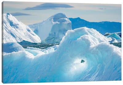 Iceberg in the Uummannaq Fjord System. America, North America, Greenland, Denmark Canvas Art Print