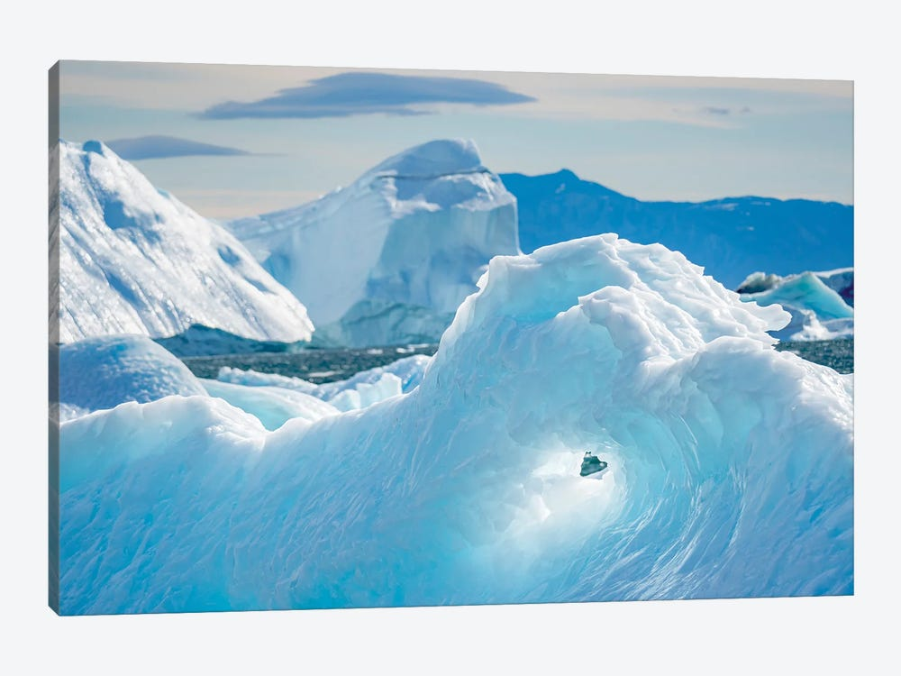 Iceberg in the Uummannaq Fjord System. America, North America, Greenland, Denmark by Martin Zwick 1-piece Canvas Wall Art