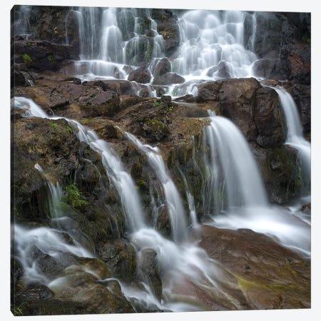 Waterfall, Fuglafjordur, Denmark Canvas Print #MZW31} by Martin Zwick Art Print