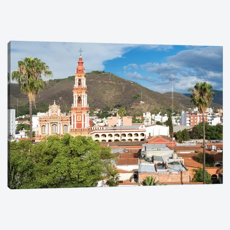 Church San Francisco. Town of Salta, located in the foothills of the Andes. Argentina Canvas Print #MZW32} by Martin Zwick Art Print