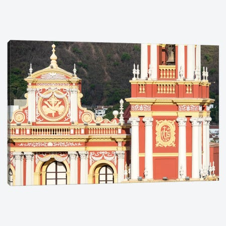Church San Francisco. Town of Salta, located in the foothills of the Andes. Argentina Canvas Print #MZW33} by Martin Zwick Canvas Art Print