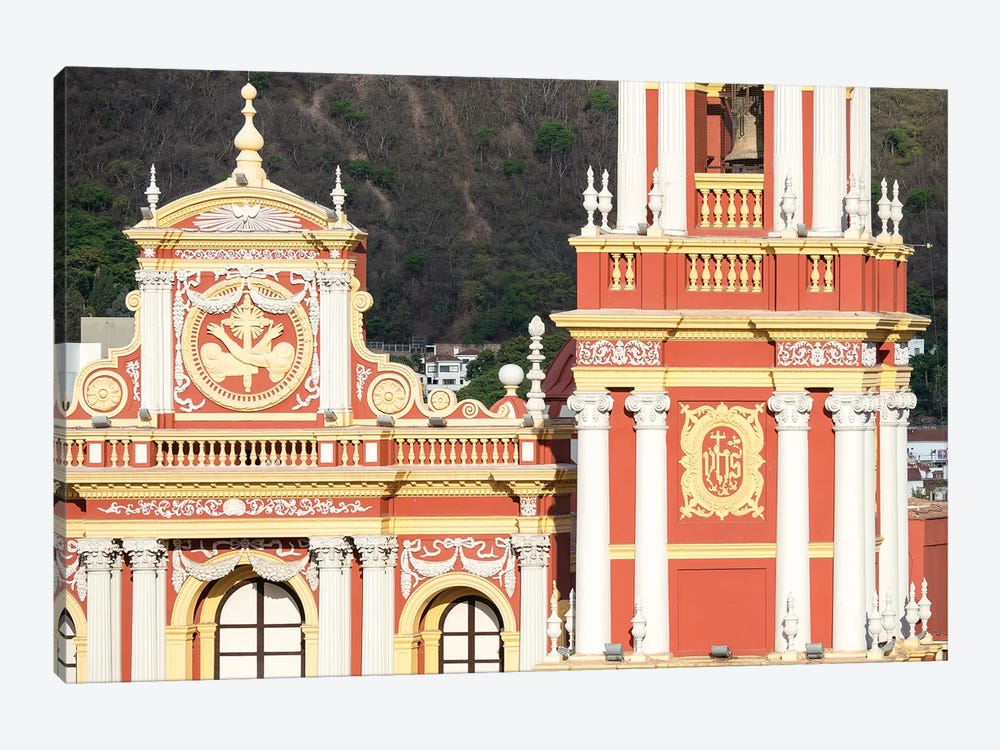 Church San Francisco. Town of Salta, located in the foothills of the Andes. Argentina by Martin Zwick 1-piece Canvas Art