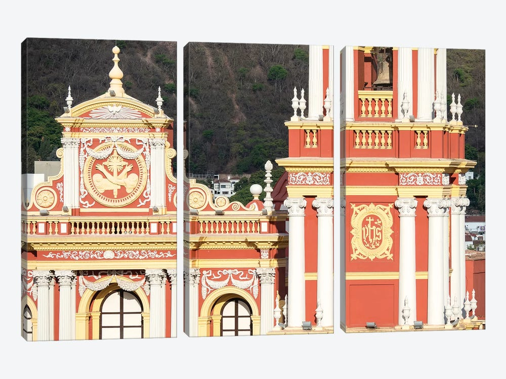 Church San Francisco. Town of Salta, located in the foothills of the Andes. Argentina by Martin Zwick 3-piece Canvas Artwork