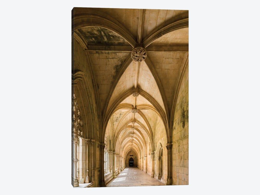 Claustro Real, the royal cloister, Mosteiro de Santa Maria da Vitoria, Portugal.  by Martin Zwick 1-piece Canvas Print