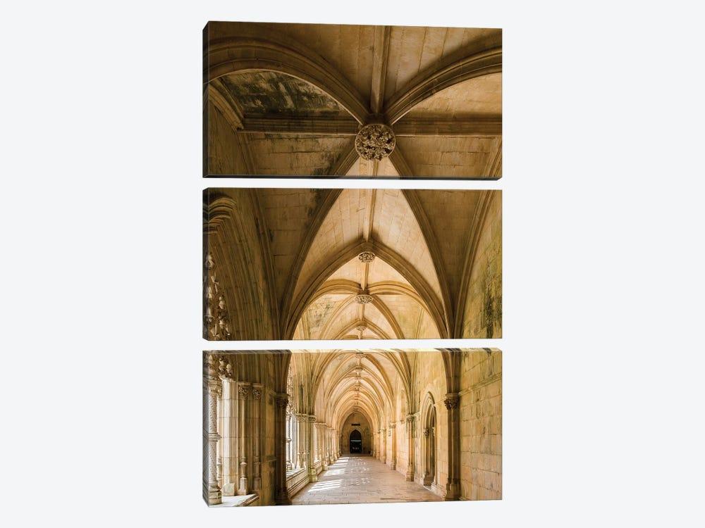 Claustro Real, the royal cloister, Mosteiro de Santa Maria da Vitoria, Portugal.  by Martin Zwick 3-piece Art Print
