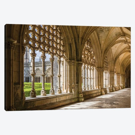Claustro Real, the royal cloister. Monastery of Batalha, Mosteiro de Santa Maria da Vitoria Canvas Print #MZW35} by Martin Zwick Canvas Wall Art