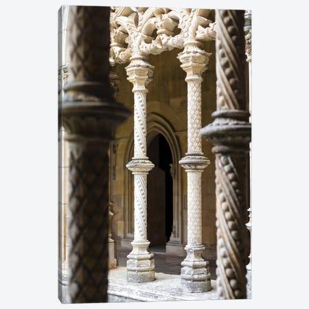 Claustro Real, the royal cloister. Monastery of Batalha, Mosteiro de Santa Maria da Vitoria Canvas Print #MZW36} by Martin Zwick Canvas Artwork