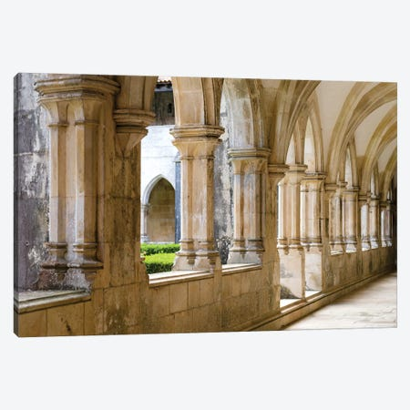 Cloister of king Afonso V. The monastery of Batalha, Mosteiro de Santa Maria da Vitoria, Portugal Canvas Print #MZW38} by Martin Zwick Canvas Print