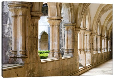 Cloister of king Afonso V. The monastery of Batalha, Mosteiro de Santa Maria da Vitoria, Portugal Canvas Art Print