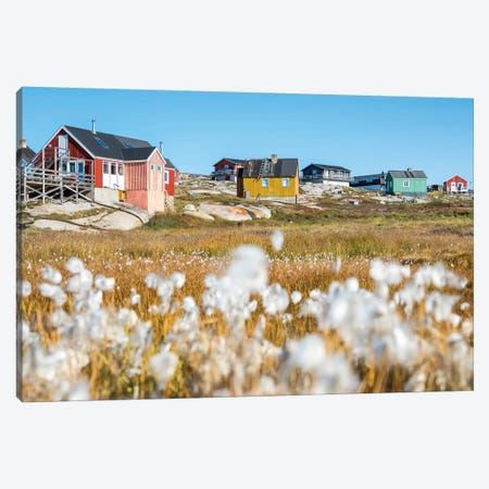 Inuit village Oqaatsut (once called Rodebay) located in Disko Bay. Greenland Canvas Print #MZW42} by Martin Zwick Canvas Artwork
