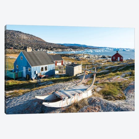Inuit village Oqaatsut (once called Rodebay) located in Disko Bay. Greenland Canvas Print #MZW43} by Martin Zwick Canvas Art