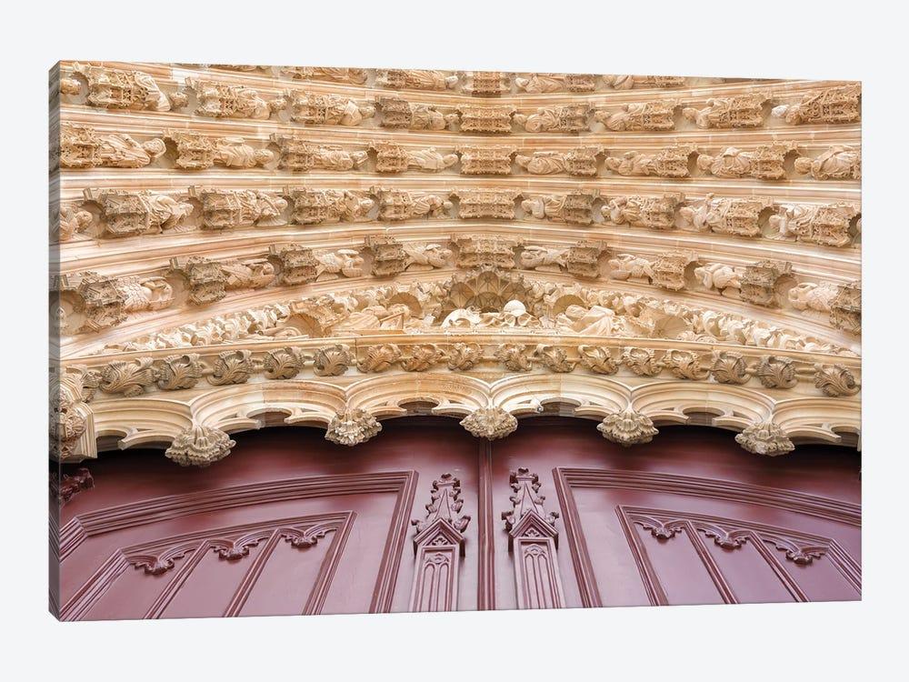 Main portal for the monastery of Batalha, Mosteiro de Santa Maria da Vitoria, Portugal by Martin Zwick 1-piece Canvas Print