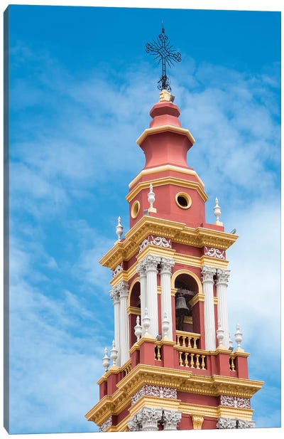 San Francisco Church. Town of Salta, north of Argentina, located in the foothills of the Andes. Canvas Art Print