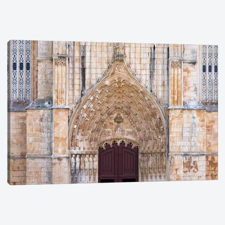 The main portal. The monastery of Batalha, Mosteiro de Santa Maria da Vitoria. Canvas Print #MZW53} by Martin Zwick Art Print