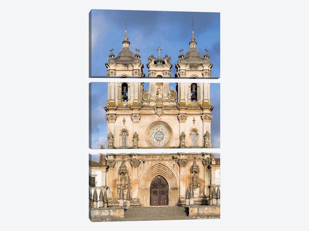 The monastery of Alcobaca, Mosteiro de Santa Maria de Alcobaca. Portugal. by Martin Zwick 3-piece Art Print