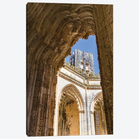 The Unfinished Chapels, Capelas Imperfeitas, in typical Manueline style. Lisboa, Portugal.  Canvas Print #MZW55} by Martin Zwick Canvas Wall Art
