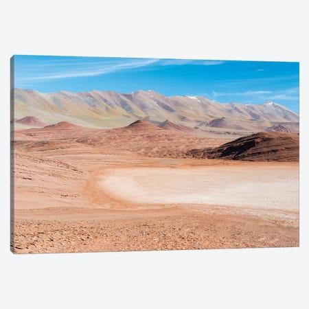Desierto del Diablo. The Argentinian Altiplano along Routa 27 between Pocitos and Tolar Grande Canvas Print #MZW63} by Martin Zwick Canvas Artwork