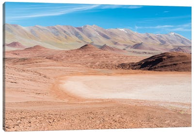 Desierto del Diablo. The Argentinian Altiplano along Routa 27 between Pocitos and Tolar Grande Canvas Art Print