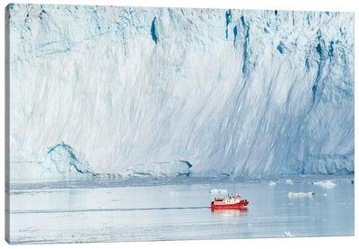 Glacier Eqip (Eqip Sermia) in western Greenland, Denmark Canvas Art Print