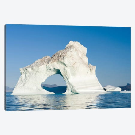 Icebergs in the Uummannaq fjord system, northwest Greenland, Denmark Canvas Print #MZW79} by Martin Zwick Canvas Art Print