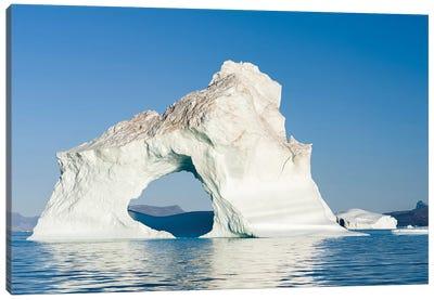 Icebergs in the Uummannaq fjord system, northwest Greenland, Denmark Canvas Art Print