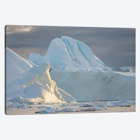 Ilulissat Icefjord also called kangia or Ilulissat Kangerlua at Disko Bay.  Canvas Print #MZW82} by Martin Zwick Canvas Art