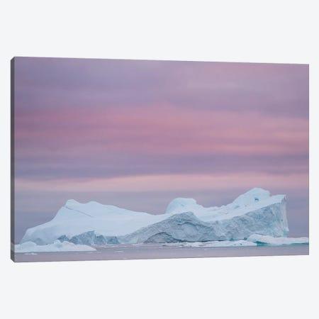Ilulissat Icefjord, UNESCO, also called kangia or Ilulissat Kangerlua at Disko Bay. Greenland Canvas Print #MZW84} by Martin Zwick Canvas Art Print