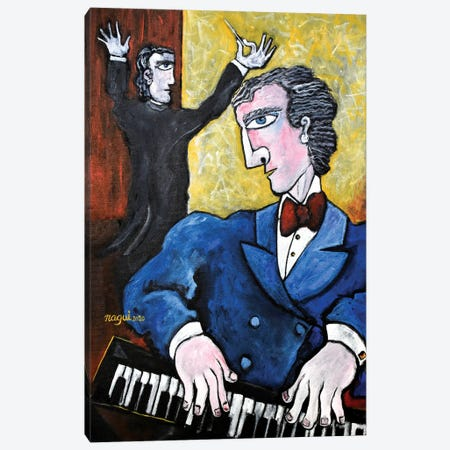 The Pianist Canvas Print #NAA104} by Nagui Achamallah Canvas Artwork