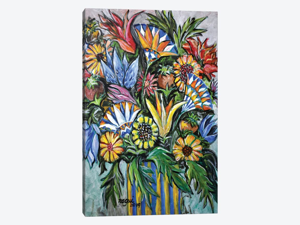 Flowers X by Nagui Achamallah 1-piece Canvas Art Print