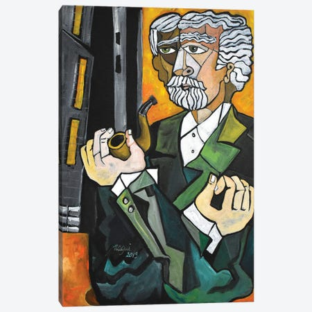 Man With A Pipe Canvas Print #NAA116} by Nagui Achamallah Art Print