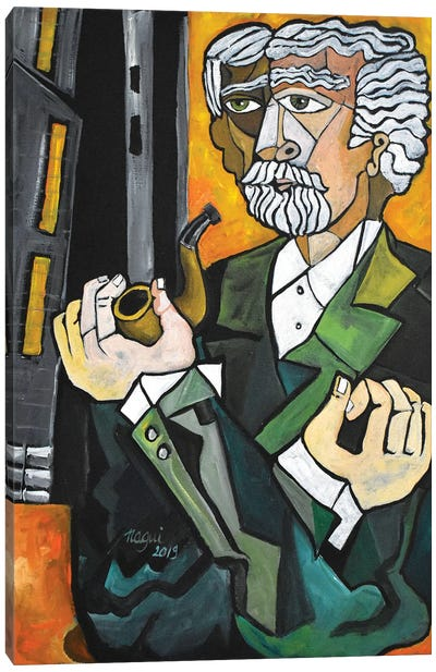 Man With A Pipe Canvas Art Print