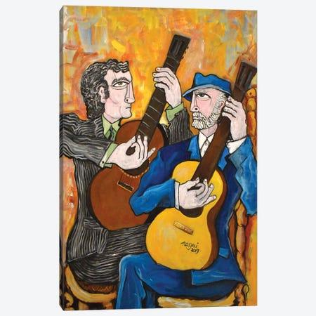 Two Guitars 2 Canvas Print #NAA119} by Nagui Achamallah Canvas Wall Art