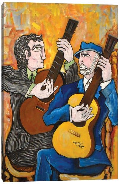 Two Guitars 2 Canvas Art Print