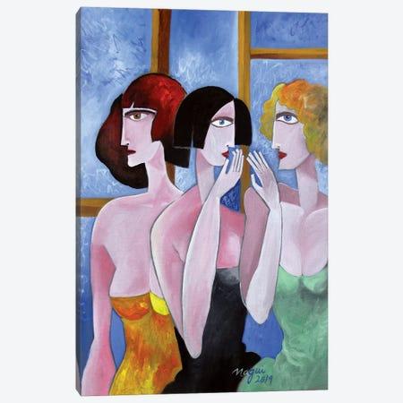 Gossip Canvas Print #NAA11} by Nagui Achamallah Art Print