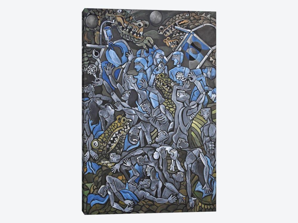 Pandemic by Nagui Achamallah 1-piece Canvas Print