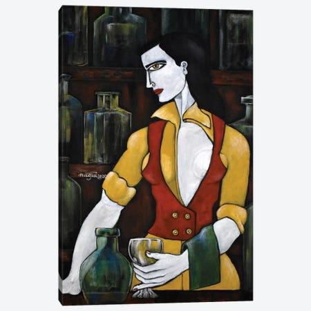 The bartender Canvas Print #NAA123} by Nagui Achamallah Canvas Print